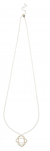 Accessorize Geo Cage Long Pendant_AED139