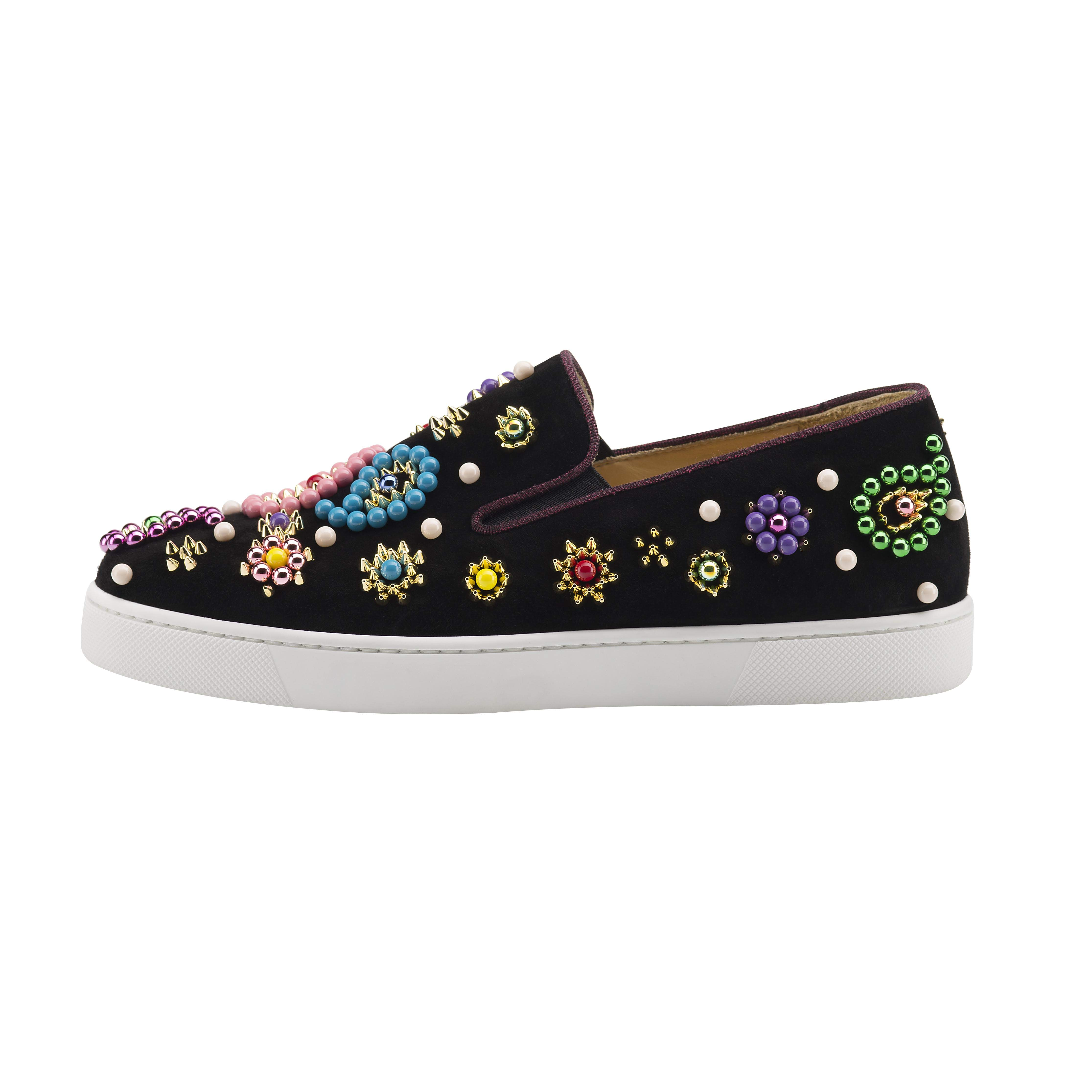 Christian Louboutin Boat Candy Flat Veau Velours GG 1 - AED 5090