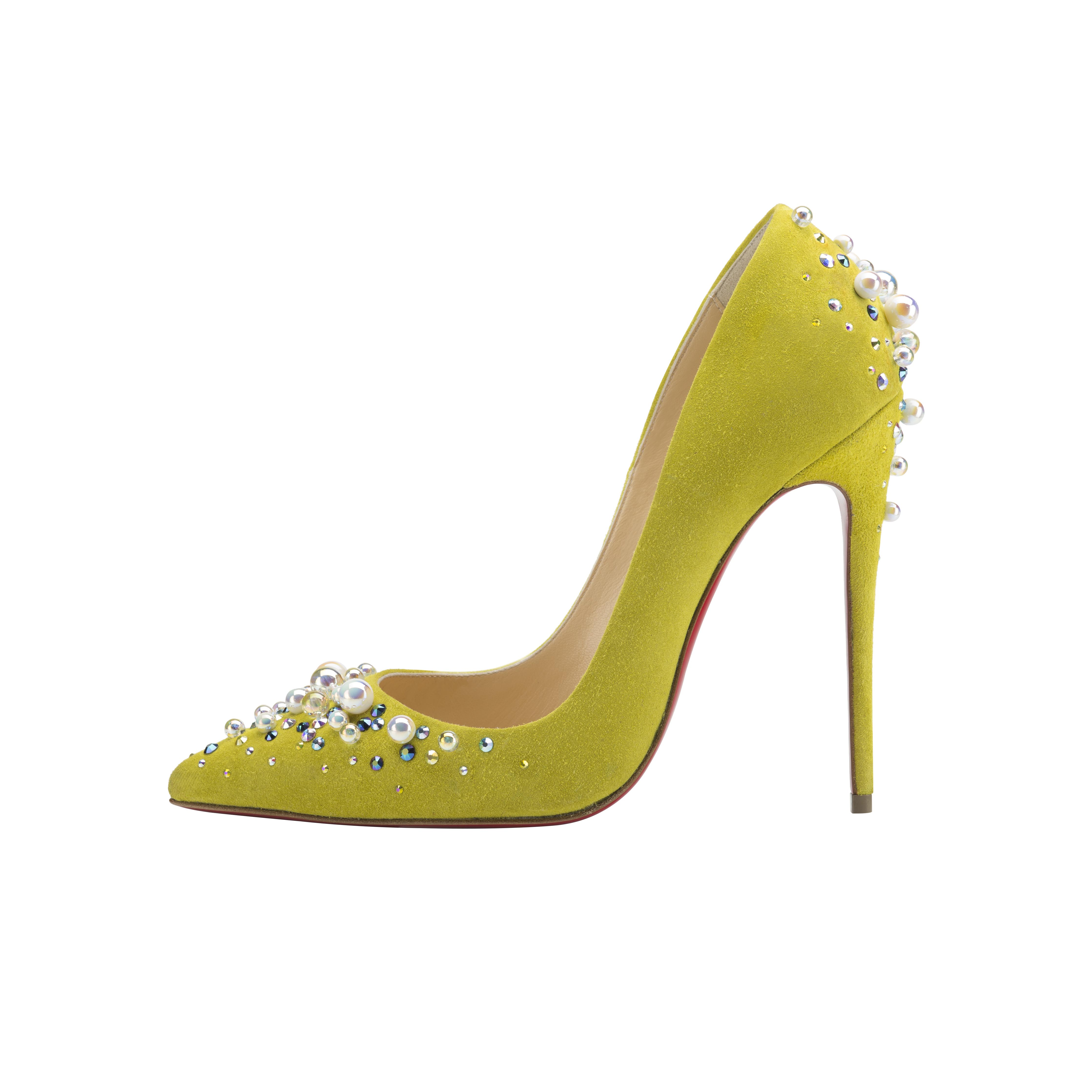 Christian Louboutin Candidate 120 Veau Velours Cubiste - AED 4390
