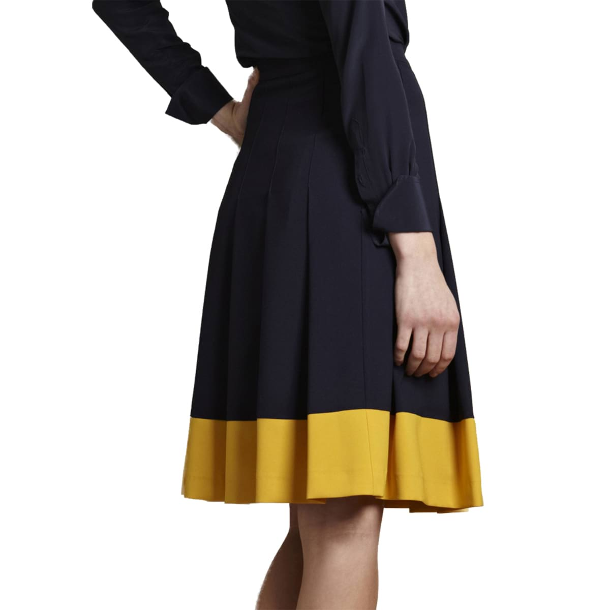 Kirby-navy-blue-Skirt-for-work-back