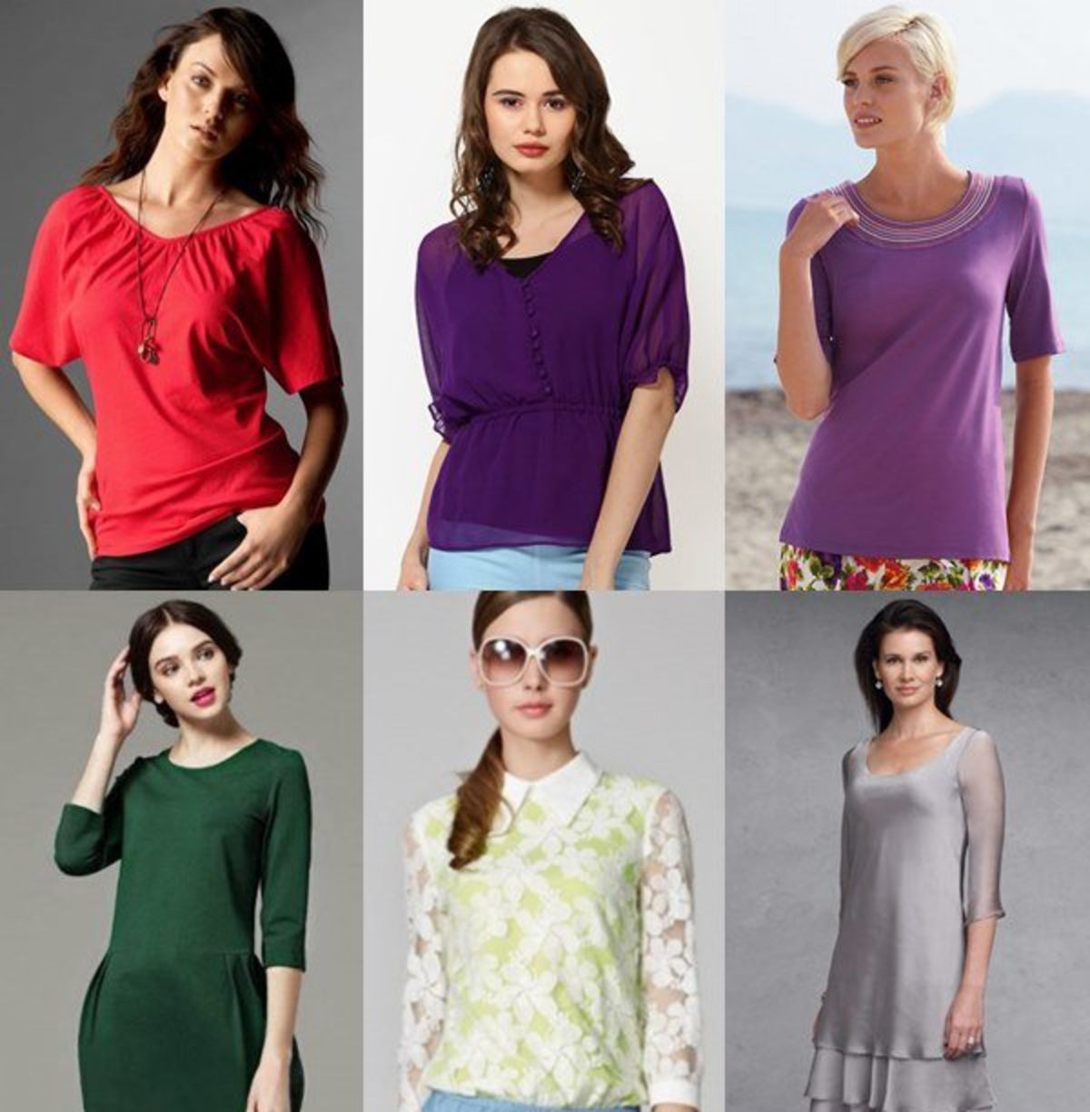 Women-Tops-with-Elbow-Length-Sleeves