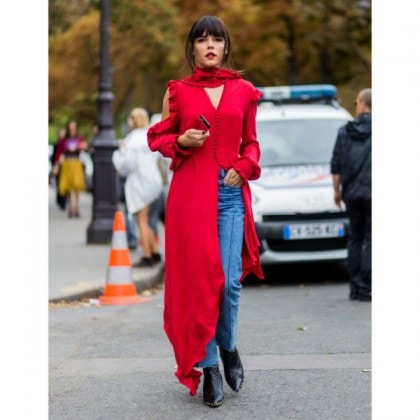 street-style-denim-red-dress-600x600