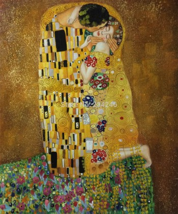Handmade-Canvas-Painting-The-Kiss-font-b-Gustav-b-font-font-b-Klimt-b-font-Oil (1)