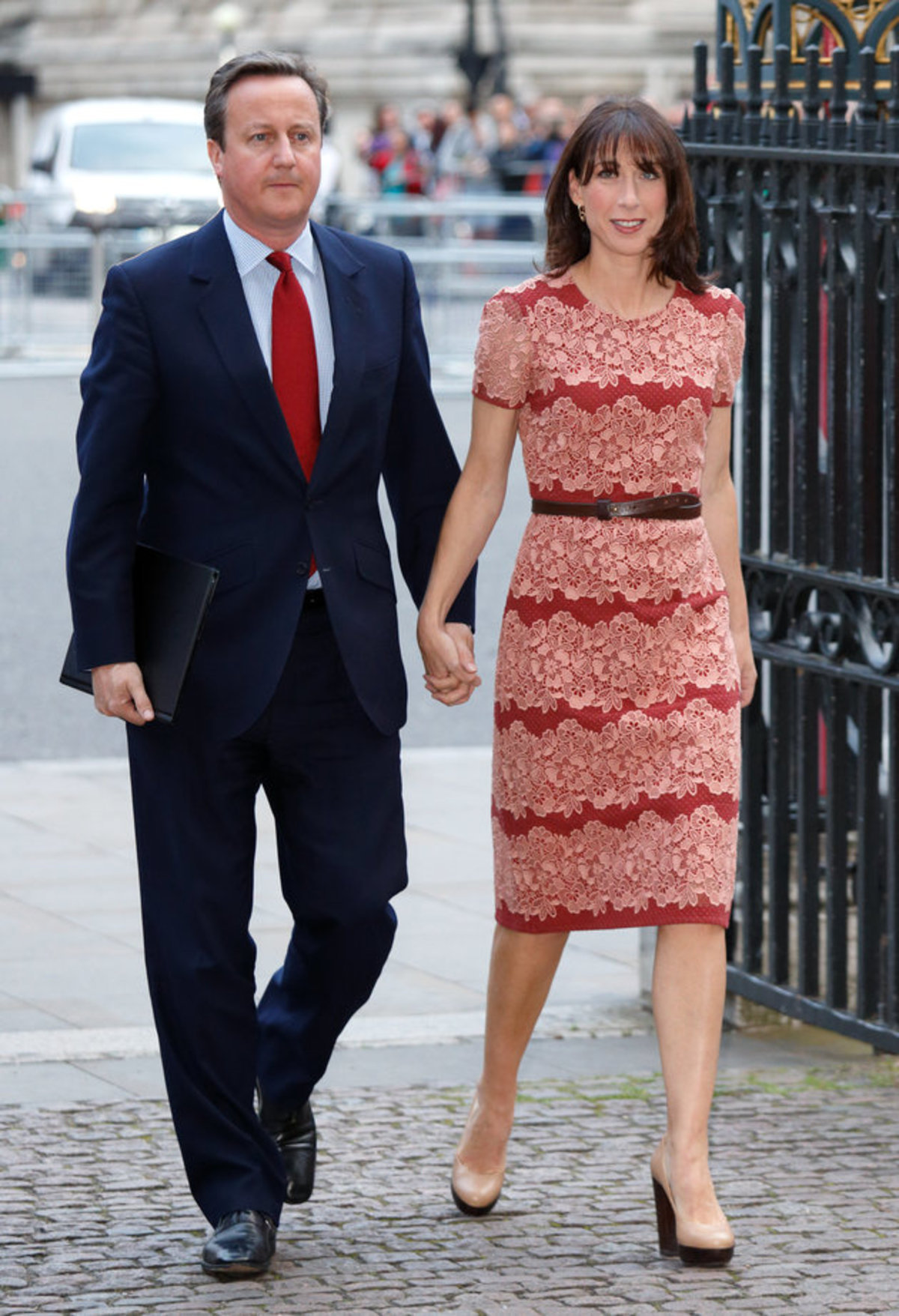LONDON, UNITED KINGDOM - JUNE 30: (EMBARGOED FOR PUBLICATION IN UK NEWSPAPERS UNTIL 48 HOURS AFTER CREATE DATE AND TIME) Prime Minister David Cameron and wife Samantha Cameron attend a service on the eve of the centenary of The Battle of The Somme at Westminster Abbey on June 30, 2016 in London, England. (Photo by Max Mumby/Indigo/Getty Images)