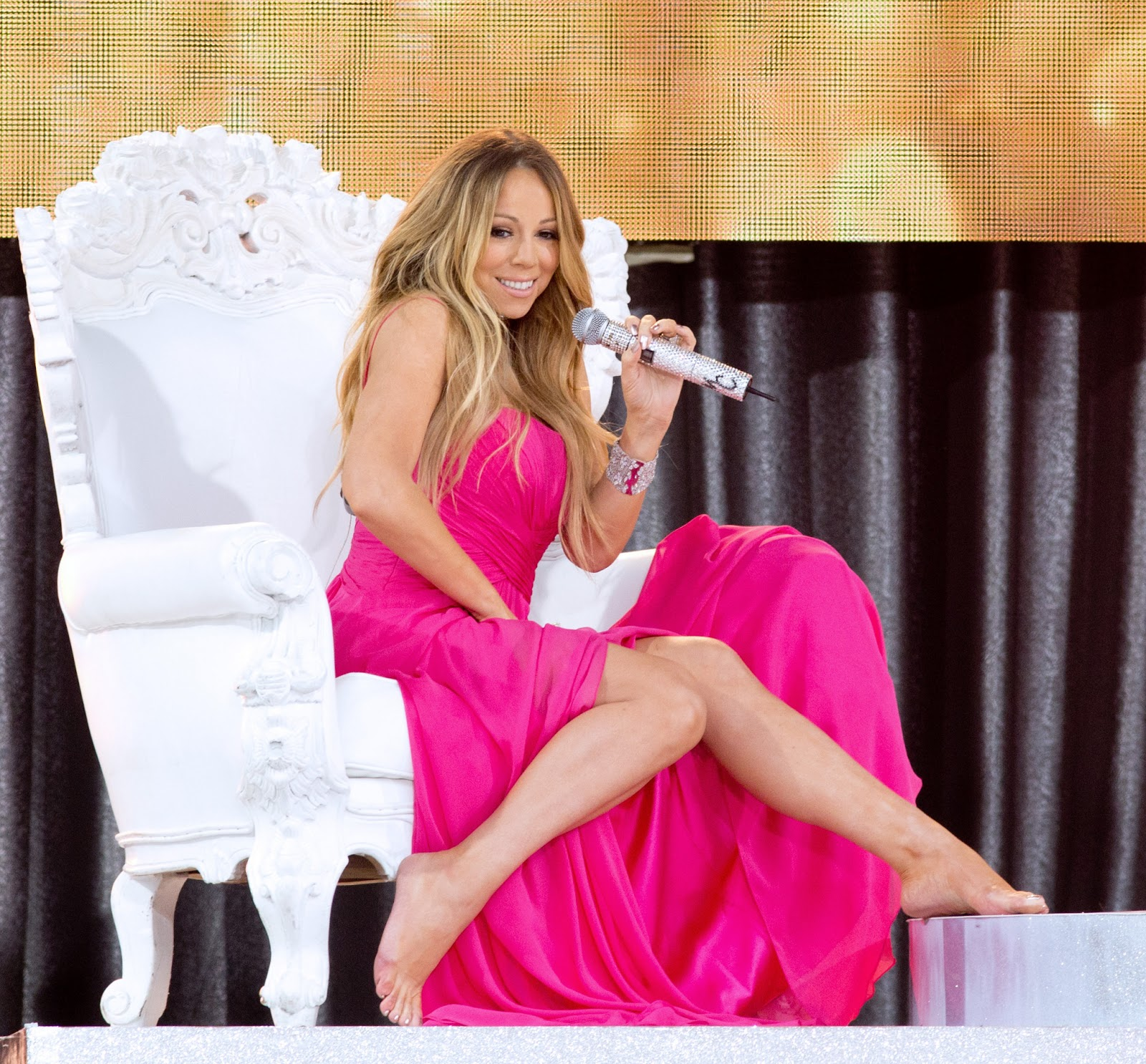 Mariah Carey - 2013 Good Morning America Concert in Central Park -19