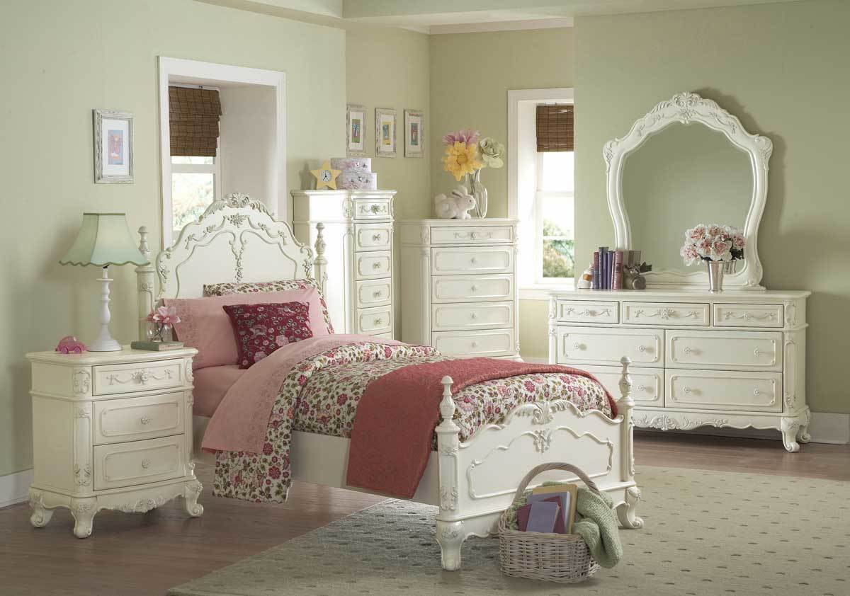- White vintage bedroom furniture sets ...